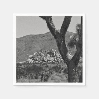 B&W Joshua Tree National Park 6 Paper Napkins