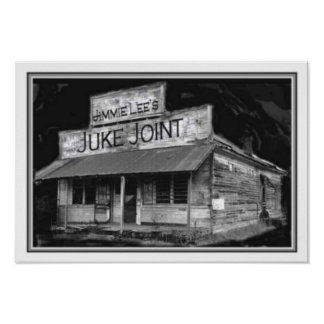 B&W Juke Joint Poster 13 x 19