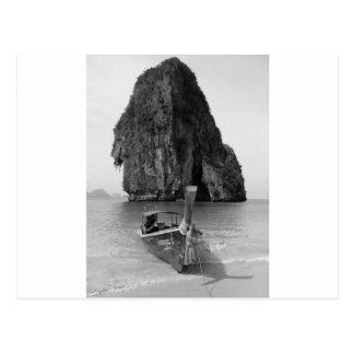 B&W Krabi beach 3 Postcard