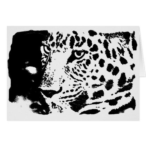 B&W Leopard Eyes Cards