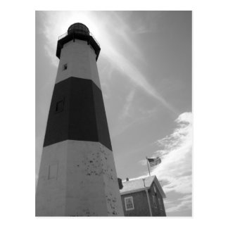B&W - Montauk Lighthouse - Post Card