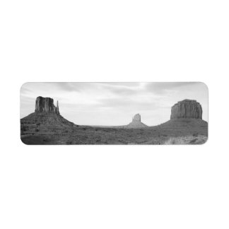 B&W Monument Valley 4 Return Address Label