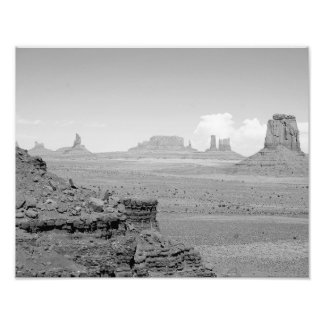 B&W Monument Valley Art Photo