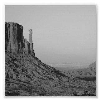 B&W Monument Valley in Arizona/Utah 5 Photographic Print