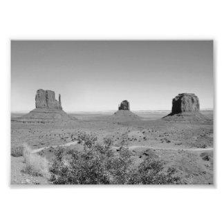 B&W Monument Valley in Arizona/Utah Photo Print