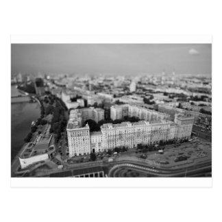 B&W Moscow skyline Postcard