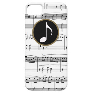b&w musical notes case for the iPhone 5
