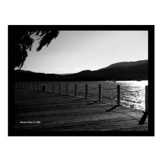 B&W Okanagan Lakeview Postcard