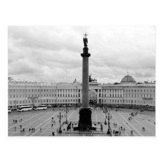 B&W Palace Square Postcard