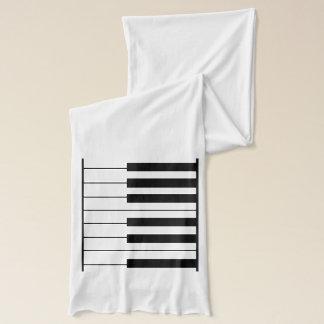 b/w piano keys scarf