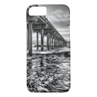 B&W pier at dawn, California iPhone 8/7 Case