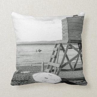 B&W pillow - Lifeguard at the Lakr