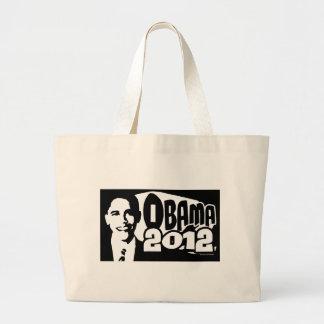 B W Re-Elect Obama 2012 Gear Canvas Bags