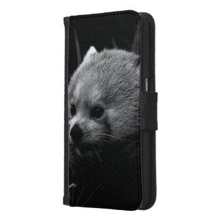 B&W red panda Samsung Galaxy S6 Wallet Case