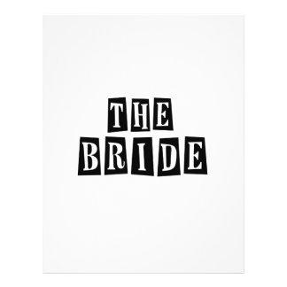 B&W Retro Stamp - The Bride 21.5 Cm X 28 Cm Flyer