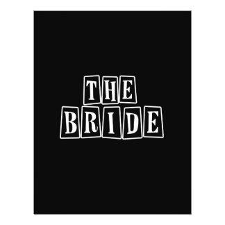 B W Retro Stamp - The Bride Full Color Flyer