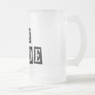 B&W Retro Stamp - The Bride Frosted Glass Mug