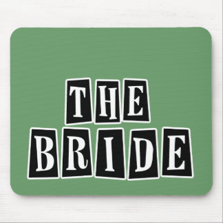 B&W Retro Stamp - The Bride Mouse Pad