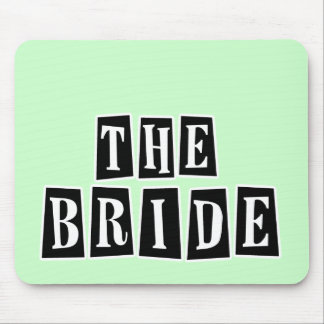B&W Retro Stamp - The Bride Mousepads