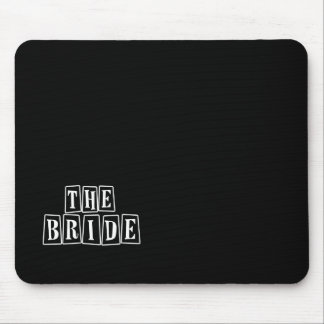 B&W Retro Stamp - The Bride Mouse Pads
