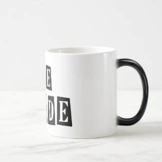 B&W Retro Stamp - The Bride Morphing Mug