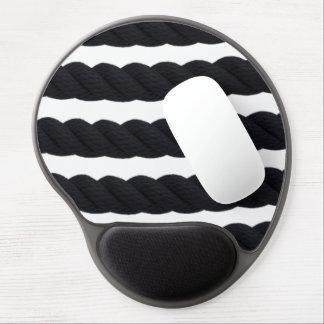 B&W Rope Stripes Print Gel Mousepad