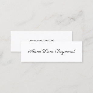 Font business cards zazzle au bw script font style minimal elegant modern mini business card reheart Image collections