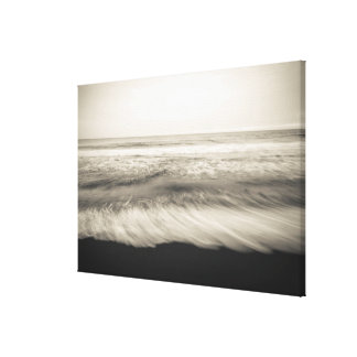 B&W seascape, Hawaii Canvas Print