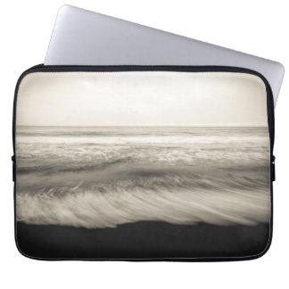 B&W seascape, Hawaii Laptop Sleeve