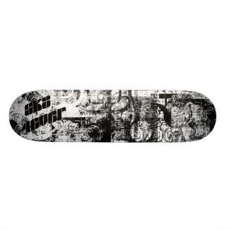 B/W sk8 4ever Skateboard Decks