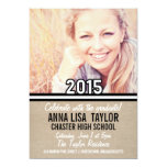 B&W Stripes Class of 2015 Graduation 2015 Invite