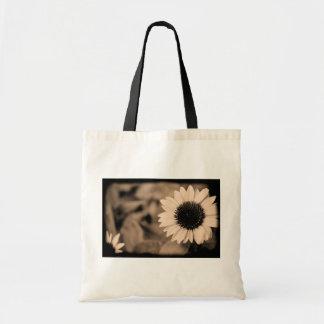 B&W Sunflower Tote Budget Tote Bag