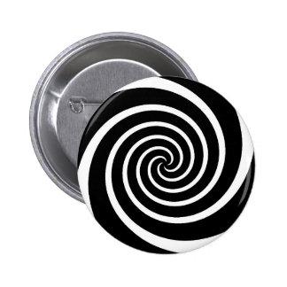 B/W Swirl - button