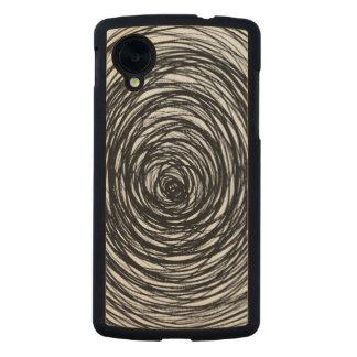 B&W Swirl Carved® Maple Nexus 5 Case