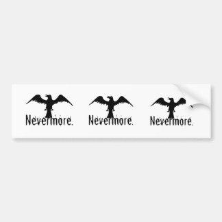 B&W Tribal Raven Nevermore Bumper Sticker
