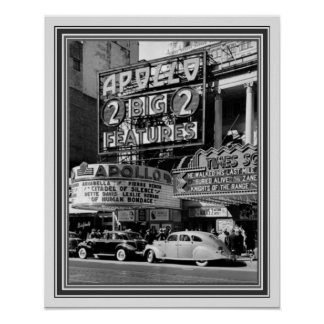 B&W Vintage Photo of the Apollo Theatre 16 x 20 Poster