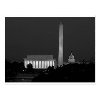 B&W Washington DC 3 Postcard