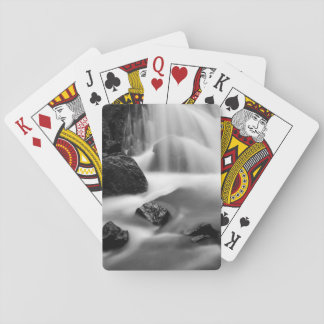 B&W waterfall, California Playing Cards