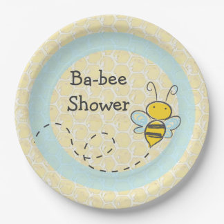 Ba-Bee Baby Shower Bumble Paper Plates 9 Inch Paper Plate