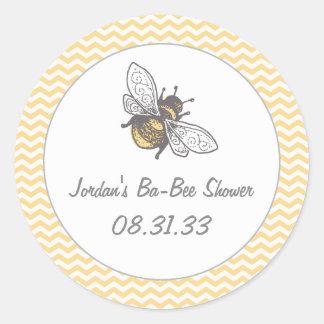 Ba-Bee Honey Bee Shower Classic Round Sticker
