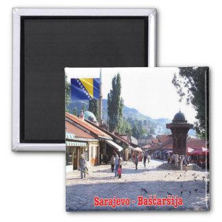 BA - Bosnia and Herzegovina - Sarajevo Bašcaršija Square Magnet