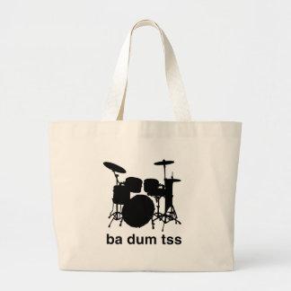 Ba Dum Tss Large Tote Bag