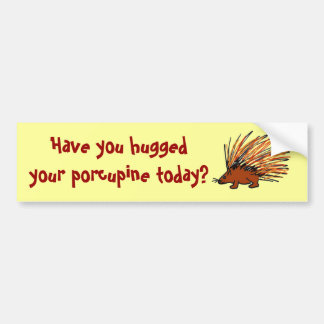 BA- Have you huggedyour porcupine today? sticker