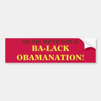 BA-LACK OBAMANATION BUMPER STICKERS