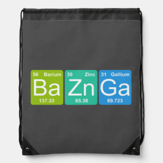 Ba Zn Ga! Periodic Table Elements Drawstring Bag