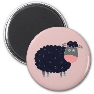 Baa Baa Black Sheep 6 Cm Round Magnet
