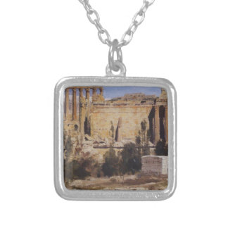 Baalbek. Ruins of Jupiter Cathedral and Cathedral Square Pendant Necklace