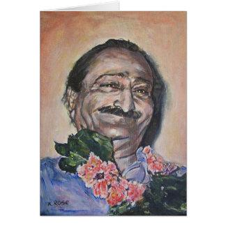 Baba in peach Notecard
