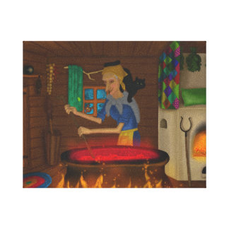 Baba Yaga - Fairytale Canvas Print