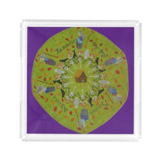 Baba Yaga Mandala Acrylic Tray